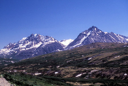 The Three Guardsmen Mountain (right), Chilkat Pass area, near Alaska/Canada border, British Columbia
