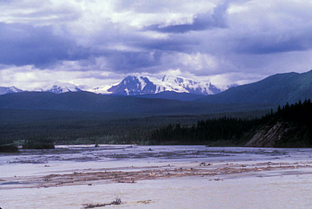 View over Donjer River from bridge, Kluane National Park, Yukon Territory