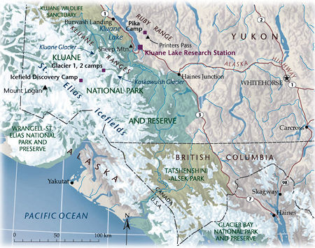 Kluane National Park area map