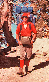 October 1976 - Don on PCT near Ash Creek north of Olancha Peak - Stan Haye Photo