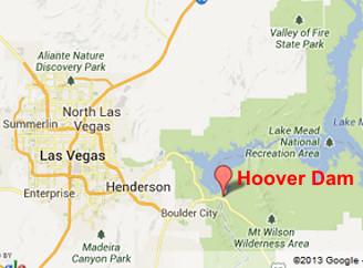 HOOVER DAM Google Slides - Hoover dam on us map