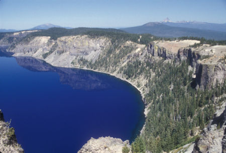 Mount Bailey and Mount Thielson in distance, Crater Lake, Crater Lake National Park, Oregon 1998
