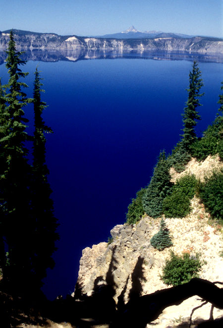 Mt. Thielson in distance over Crater Lake, Crater Lake National Park, Oregon 1998