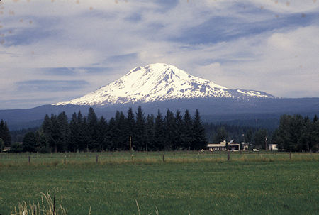 Mt. Adams from Route 141 south of Trout Lake, Washington