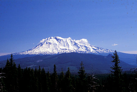 Mt. Adams from USFS Road 24 south of Mount St. Helens, Washington
