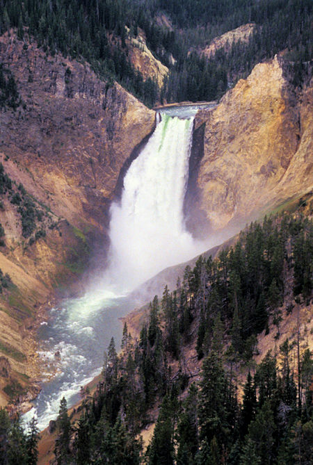 Lower Yellowstone Falls from Upper Lookout Point